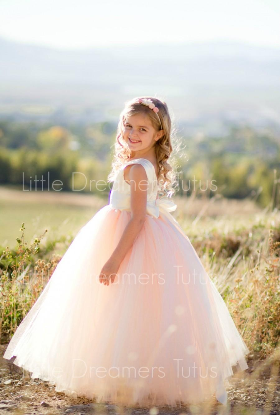 Wedding - NEW! The Juliet Dress in Ivory Blush - Flower Girl Tutu Dress