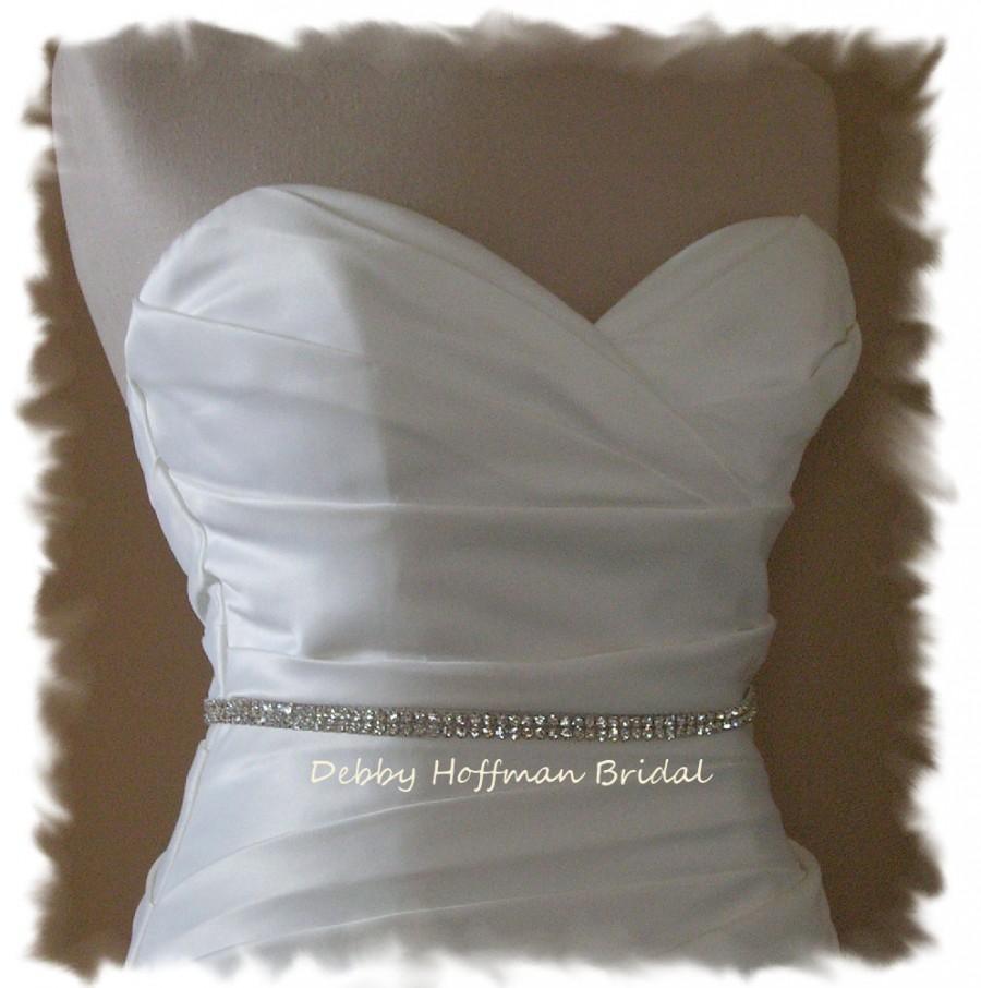 Mariage - Thin Wedding Sash, Rhinestone Bridal Sash, Jeweled Bridal Belt, Crystal Belt, Skinny Rhinestone Bridesmaid Sash Belt, No. 6000S, SALE