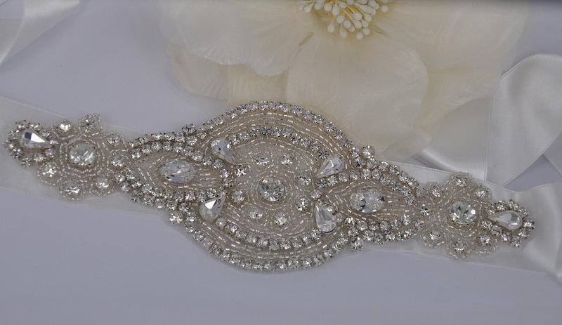 Mariage - Karlie - Vintage Style Rhinestone Crystals Wedding Belt Sash