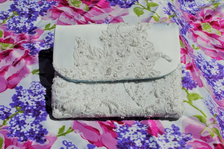 Wedding - Repurposed/upcycled wedding dress made into a Swoon Dakota Tablet Clutch