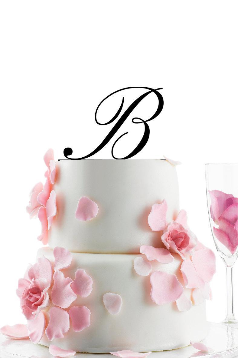 Mariage - Custom Wedding Cake Topper - Personalized Monogram Cake Topper -Initial -  Cake Decor - Anniversary