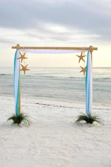 Diy Wedding Arch Beach Wedding Theme - 40 Gre...