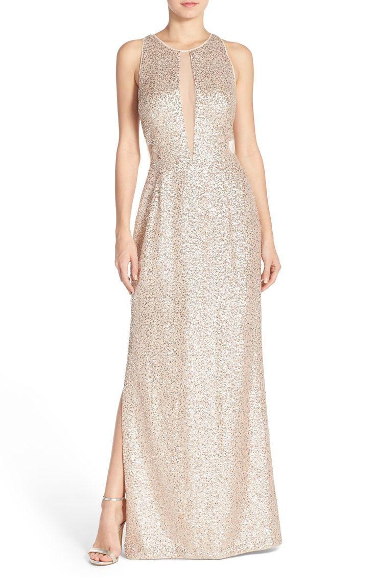 Düğün - Women's Aidan By Aidan Mattox Sequin Mesh Gown