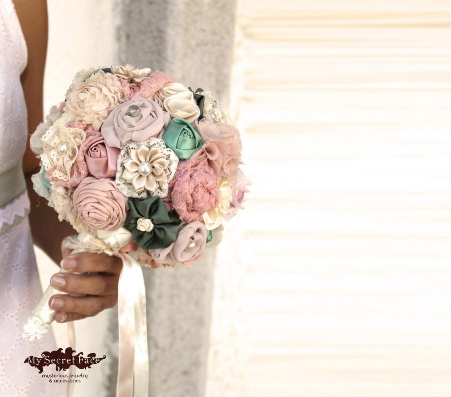 Hochzeit - Wedding bouquet, bridal bouquet, blush bouquet, spring wedding DEPOSIT