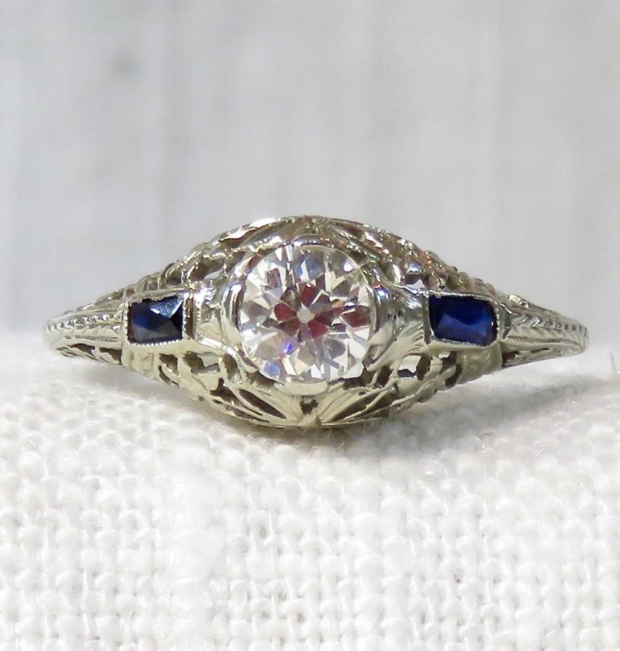 art deco eragem vintage rings antique diamond engagement