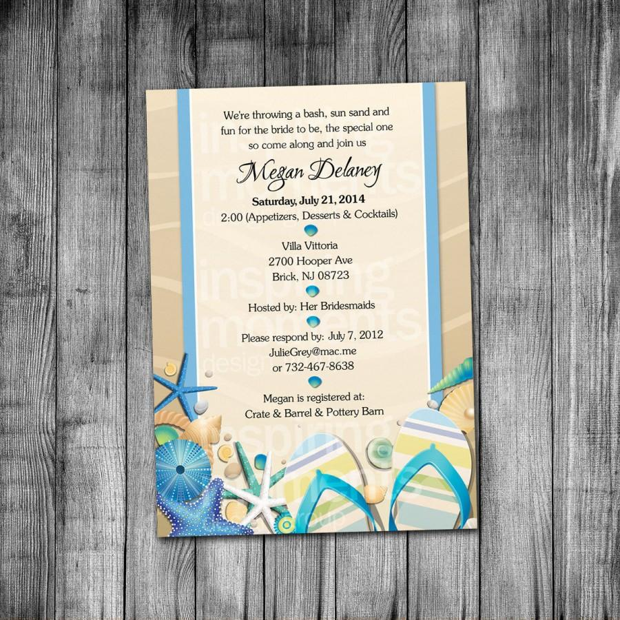 Beach Bridal Shower Invitation 2488299