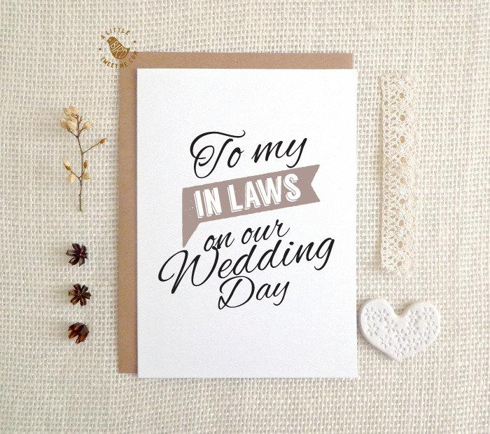 wedding day cards to my in laws on our wedding day card mc270
