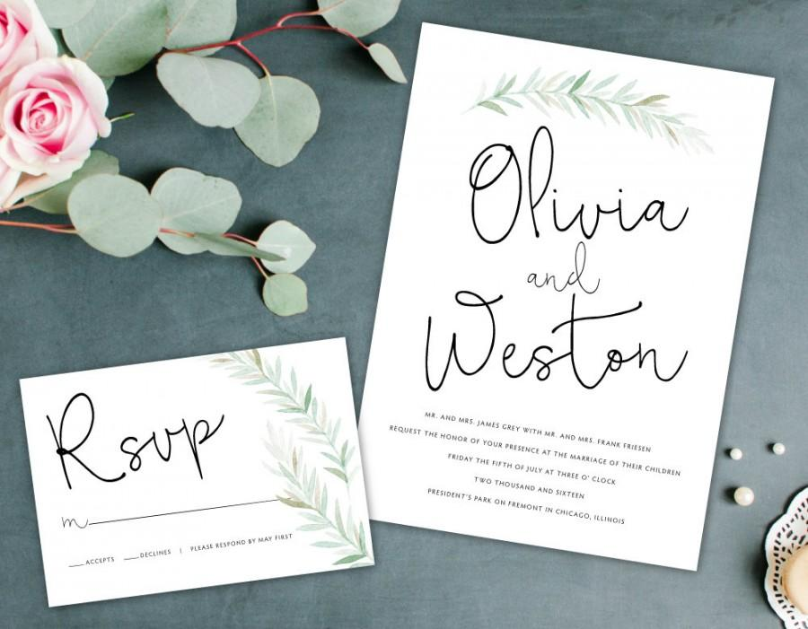 organic wedding invitation earthy wedding invitation outdoorsy