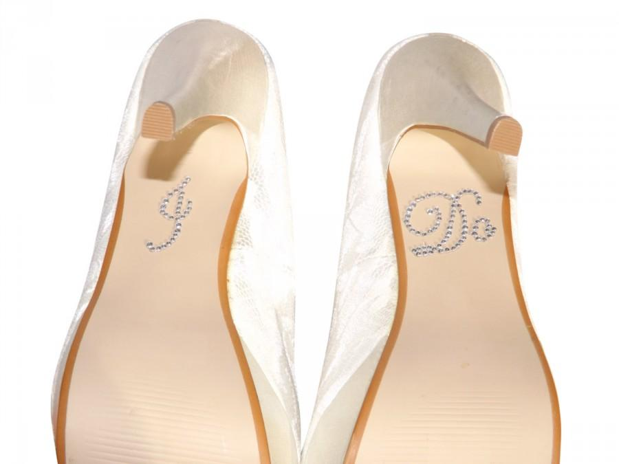 Clear I Do Crystal Wedding Shoe Sticker For Your Shoes Stickers
