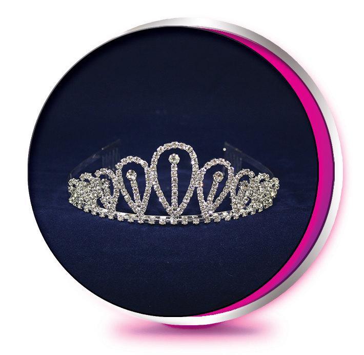 Свадьба - The Sarah - Rhinestone Tiara - Pageant, Wedding, Prom, Homecoming, or Bridesmaid Crown