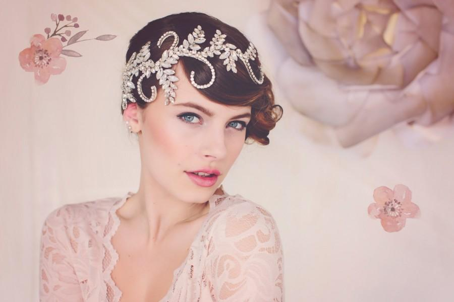 Свадьба - wedding Tiara. Statement Headpiece. Bridal Crystal Headpiece tiara. The Audrey Crystal Bridal Headpiece #139