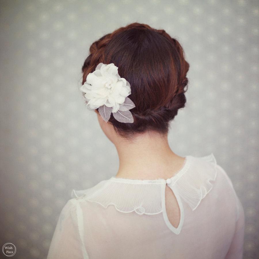 Wedding Hair Flower Ivory Bridal Headpiece Accessories Handmade Comb Style Fl1313 S
