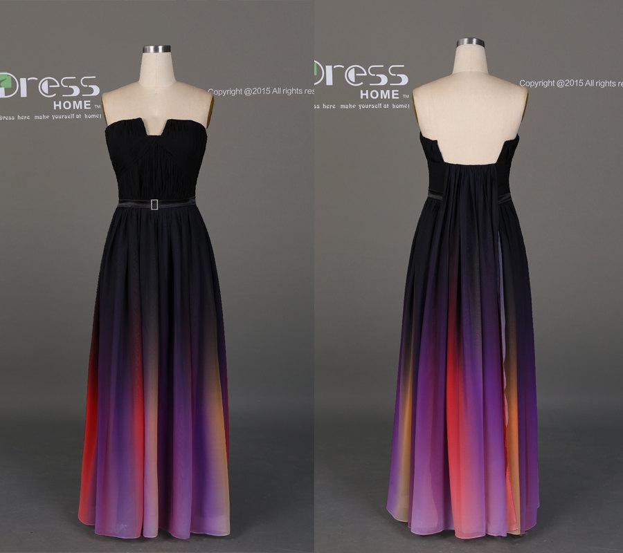 Long ombre dress