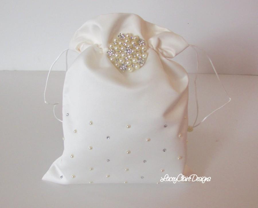 Wedding - Wedding Dollar Dance Bag Bridal Money Bag Wedding Purse Custom Made