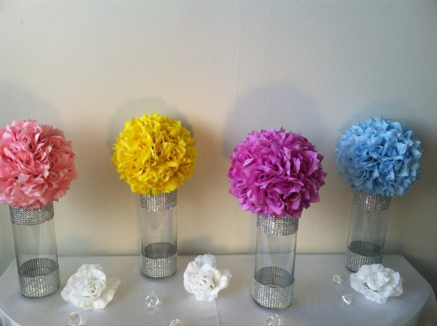 Customized Wedding Centerpieces 8 Kissing Ball Centerpiece Lot