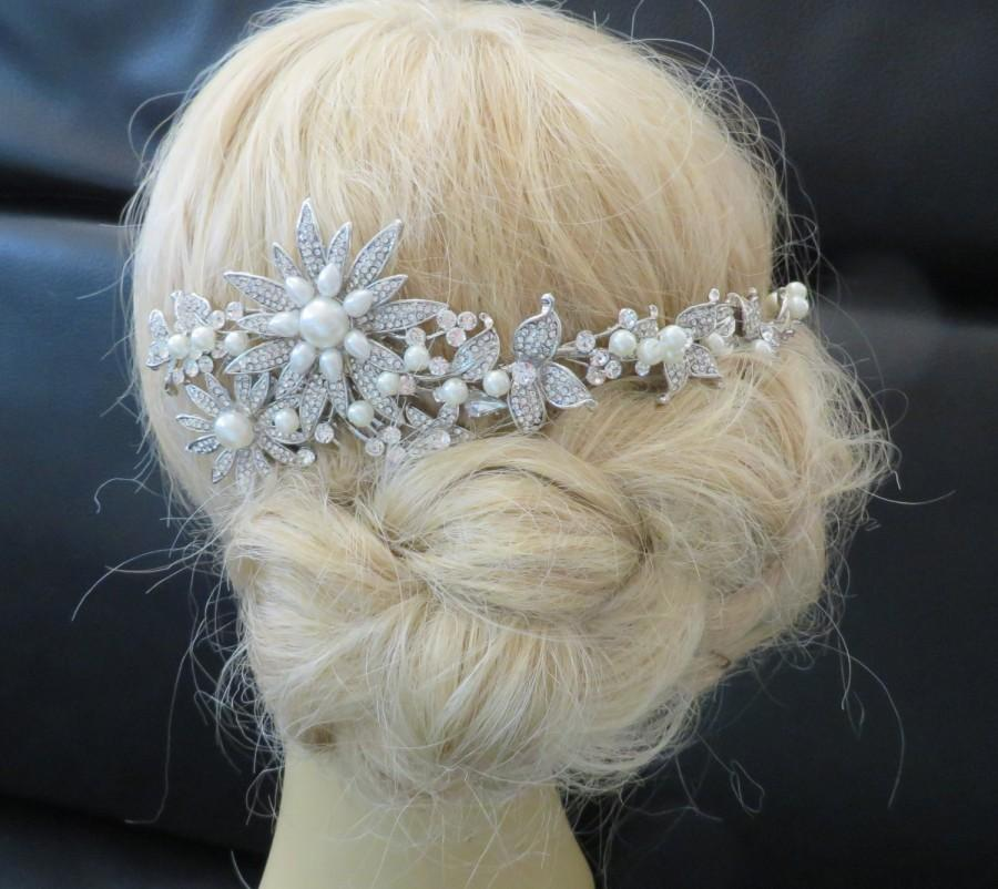 زفاف - Bridal  Veil and Bridal Comb, Birdcage bridal Wedding veil,Headpieces Swarovski Pearls wedding hair accessories Wedding Decorative Comb