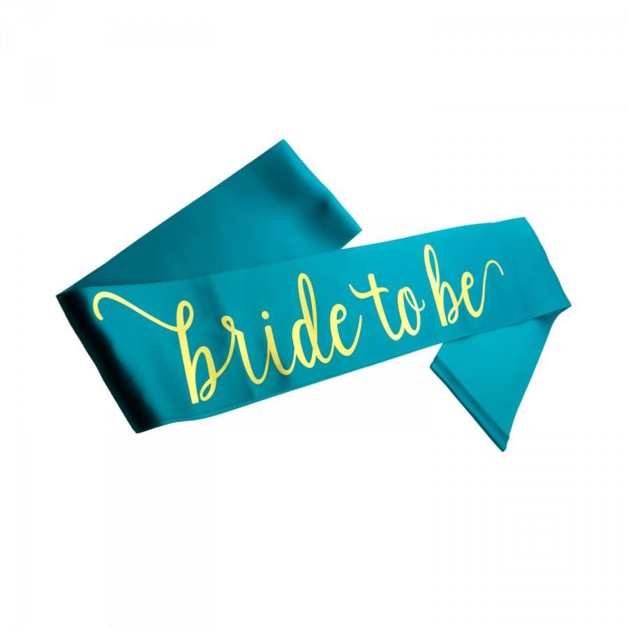 زفاف - Bride to Be Sash, Satin Bachelorette Sash, Gold printed sash, Bachelorette Party, Bridal Shower, Engagement Party, Bridal Sash, Bachelorette