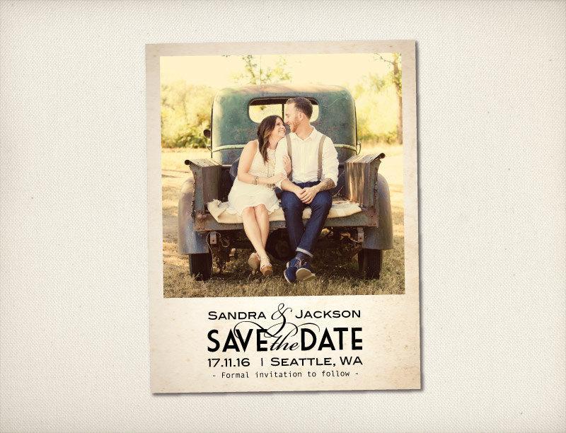 Save The Date Magnet, Modern Vintage Magnet, Wedding Save
