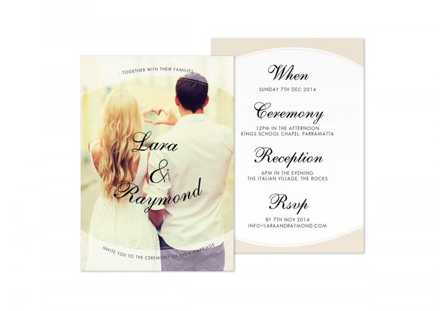 Mariage - Printable Wedding Invitation Template DIY Invite Digital Download