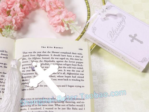 Wedding - Blessings Silver Cross Bookmark Baby Bomboniere Crafts WJ030