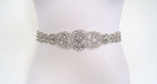 زفاف - Wedding belt,Wedding sash belt,Crystal rhinestone belt