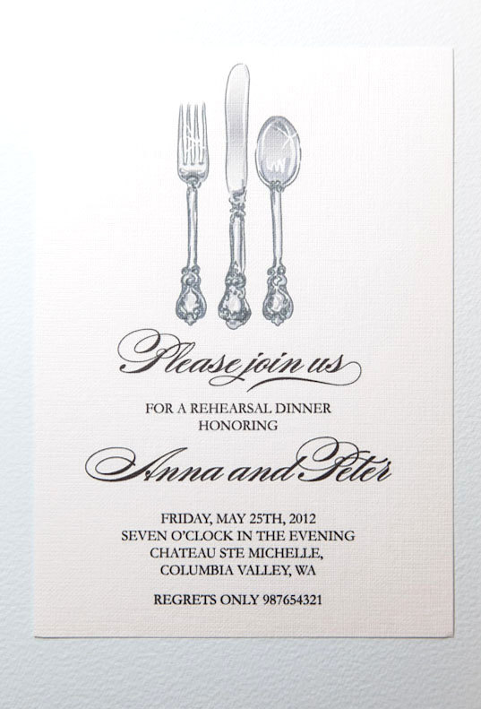 graphic about Printable Rehearsal Dinner Invitations named Invitation - Printable Rehearsal Meal Invitation #2488717