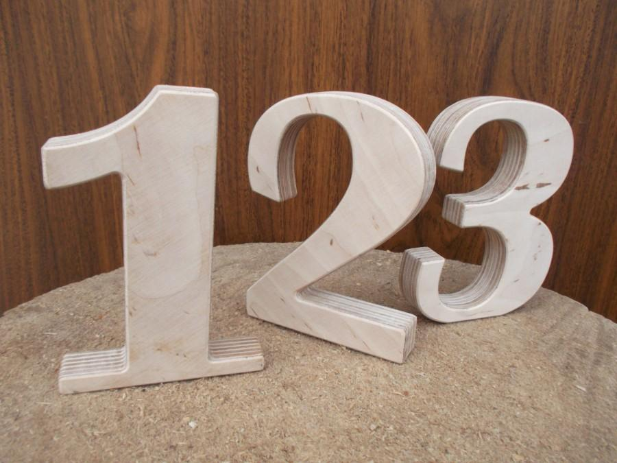 1 12 5 wooden table numbers rustic wedding table