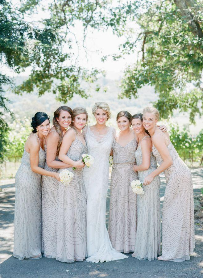 Bridesmaid a neutral colored wine country wedding for Wine colored wedding dresses