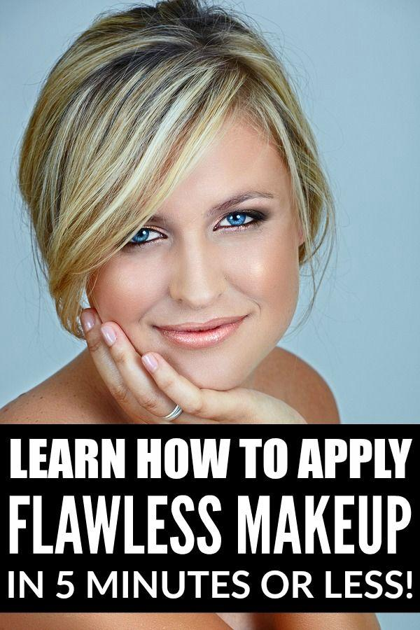 Свадьба - How To Apply Flawless Makeup In 5 Minutes Or Less