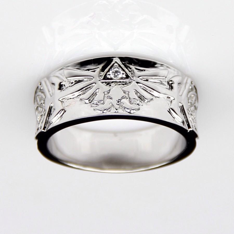 Mariage - Legend of Zelda Engagement Wedding Commitment Promise Ring Link Zelda Navi Spiritual Stones Ocarina of Time Hyrule Navi Video Game Rupee
