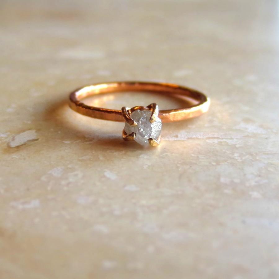 Свадьба - Raw Diamond Ring, Uncut Diamond Ring, Rough Diamond Ring, Alternative Engagement Ring, Gold Diamond Ring, Gold Engagement Ring Made To Order
