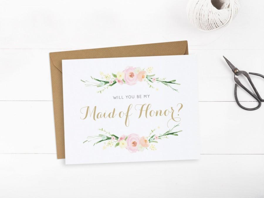 image about Will You Be My Maid of Honor Printable named Will Yourself Be My Maid Of Honor Card, Maid Of Honor Printable