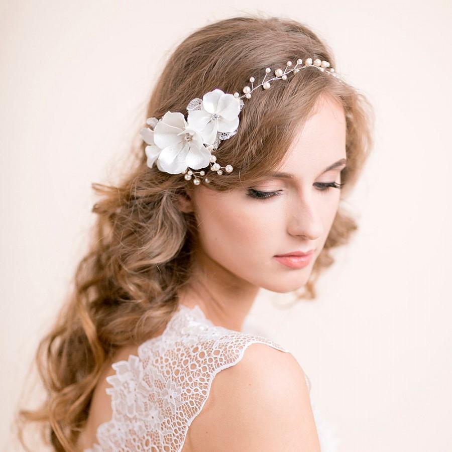 Headband Hairvine Floral Pearl