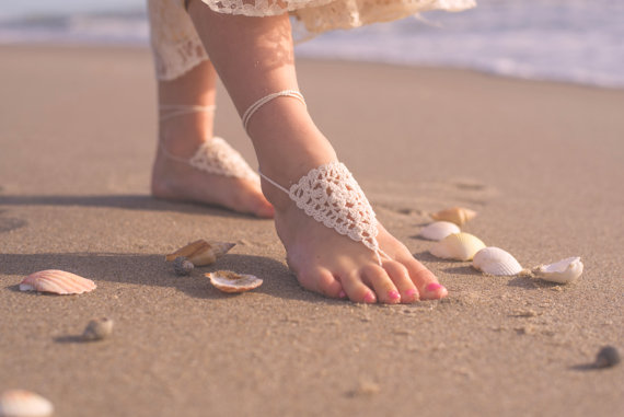 38a529d77 Girls Barefoot Sandals- Beach Wedding- Baby Foot Jewelry- Footless Sandals-  Barefoot Wedding Sandals- Flower Girl Gift- Barefoot Sandles
