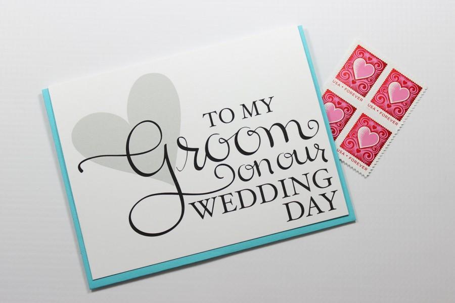 wedding card wedding day card groom card fiance card husband