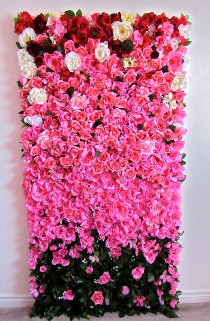 3ft X 6ft Finished Ombre Rose Flower Wall For Wedding Photo Shoot Backdrop Made Famous By Kim Kardashian