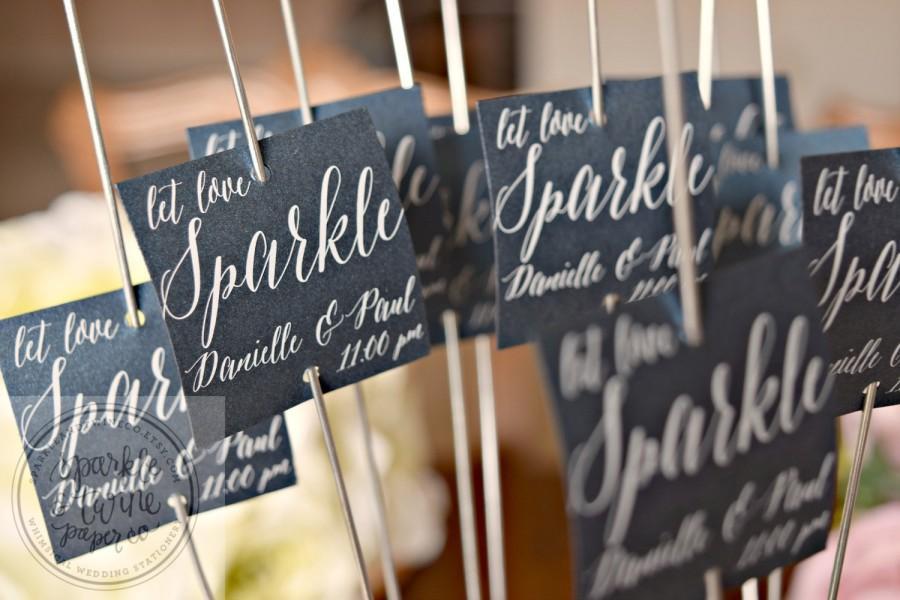 Sparkler Tags Sparkler Labels Sparkler Exit Tags Wedding Sparkler