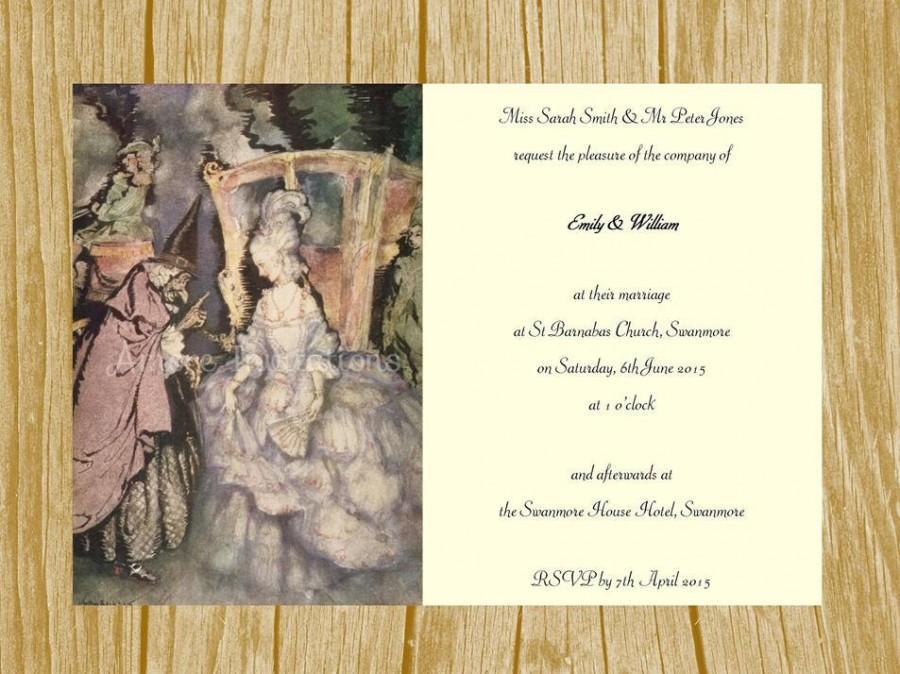 digital printable vintage cinderella princess birthday party