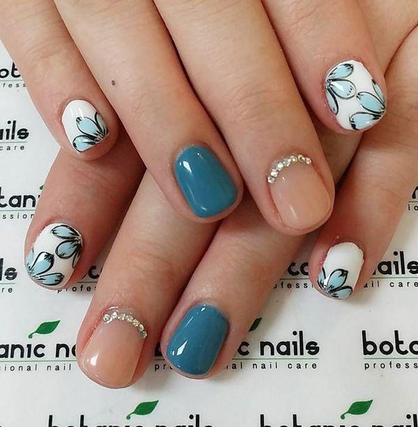زفاف - 65 Winter Nail Art Ideas