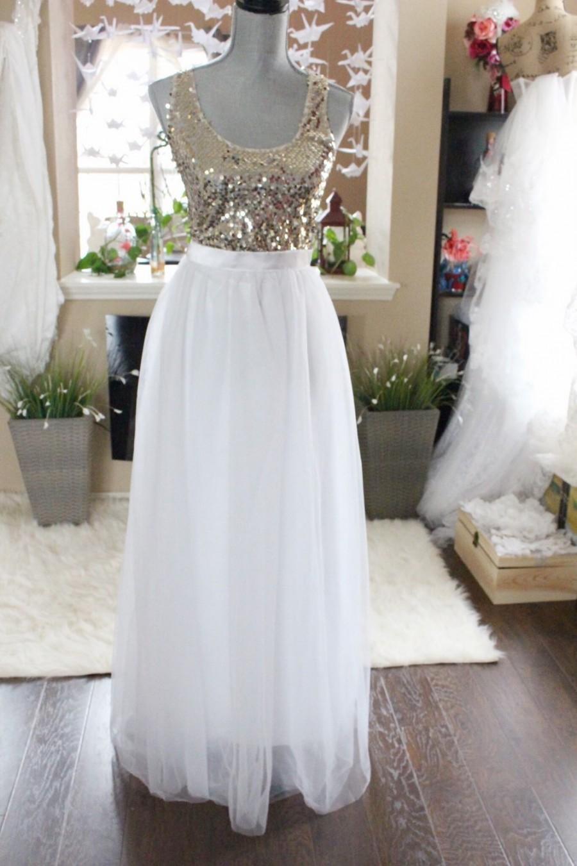 White Long maxi tulle skirt / White floor length skirt / Bride Tulle Skirt  / Custom Made Zipper Skirt / Wedding Bridal Skirt / White tulle s - White Long Maxi Tulle Skirt / White Floor Length Skirt / Bride