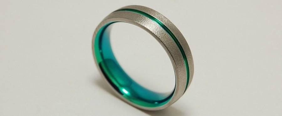 Свадьба - Mens Wedding Band , Titanium Ring , The Orion Band with Comfort Fit