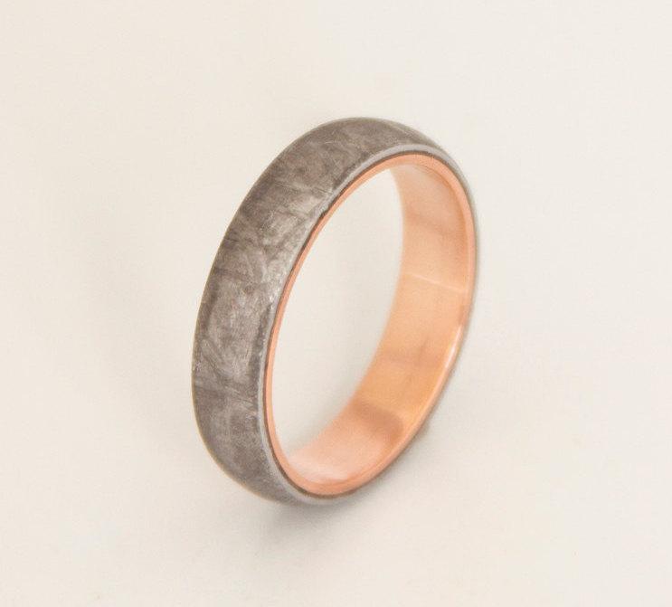 Meteorite Wedding Promise Ring Mens Wedding Band Woman Ring