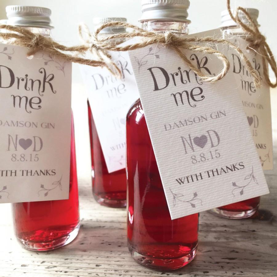 Mariage - Drink Me - Wedding Favour Labels x 20