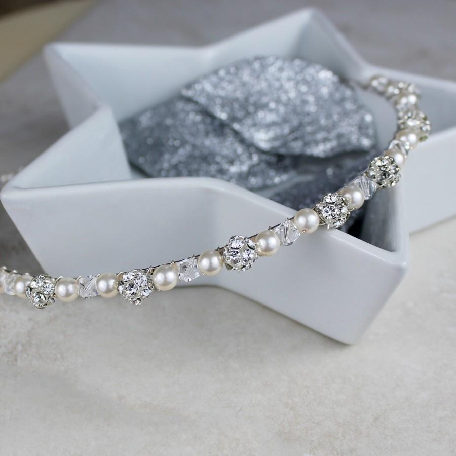 Wedding - Wedding Headband - Pearl Wedding Headband - Wedding Hair Accessories (WHPW2)