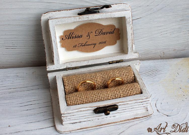 Wedding Ring Box Ring Bearer Box Jewelry Box Wooden Jewelry Box