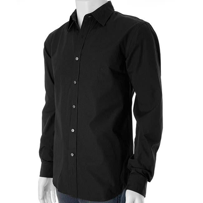 Black Dress Shirt, Black Men's Dress Shirts, Custom Black Shirts ...