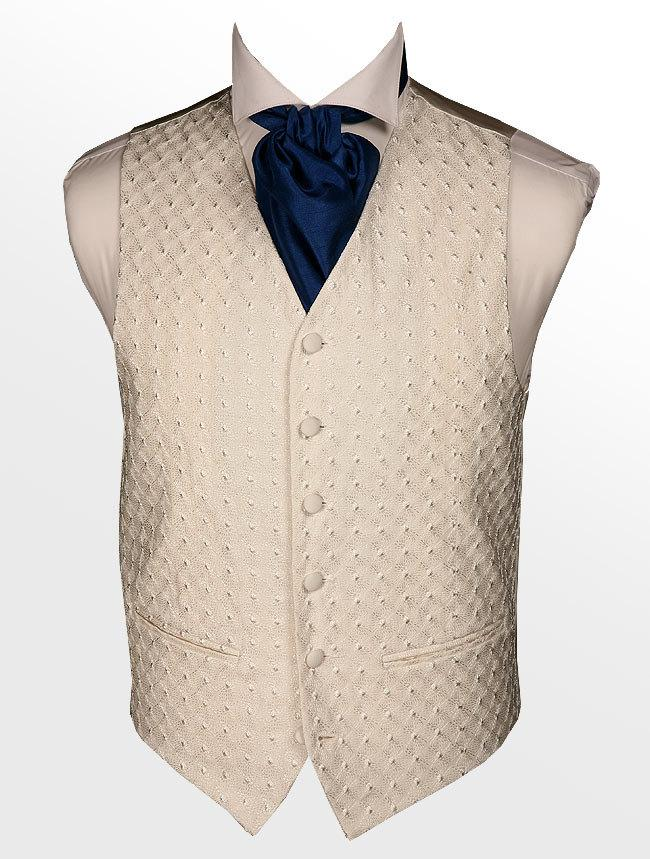 Wedding - Mens Wedding Woven Waist Coat Ivory Ostrich **Sale Price**LIMITED TIME