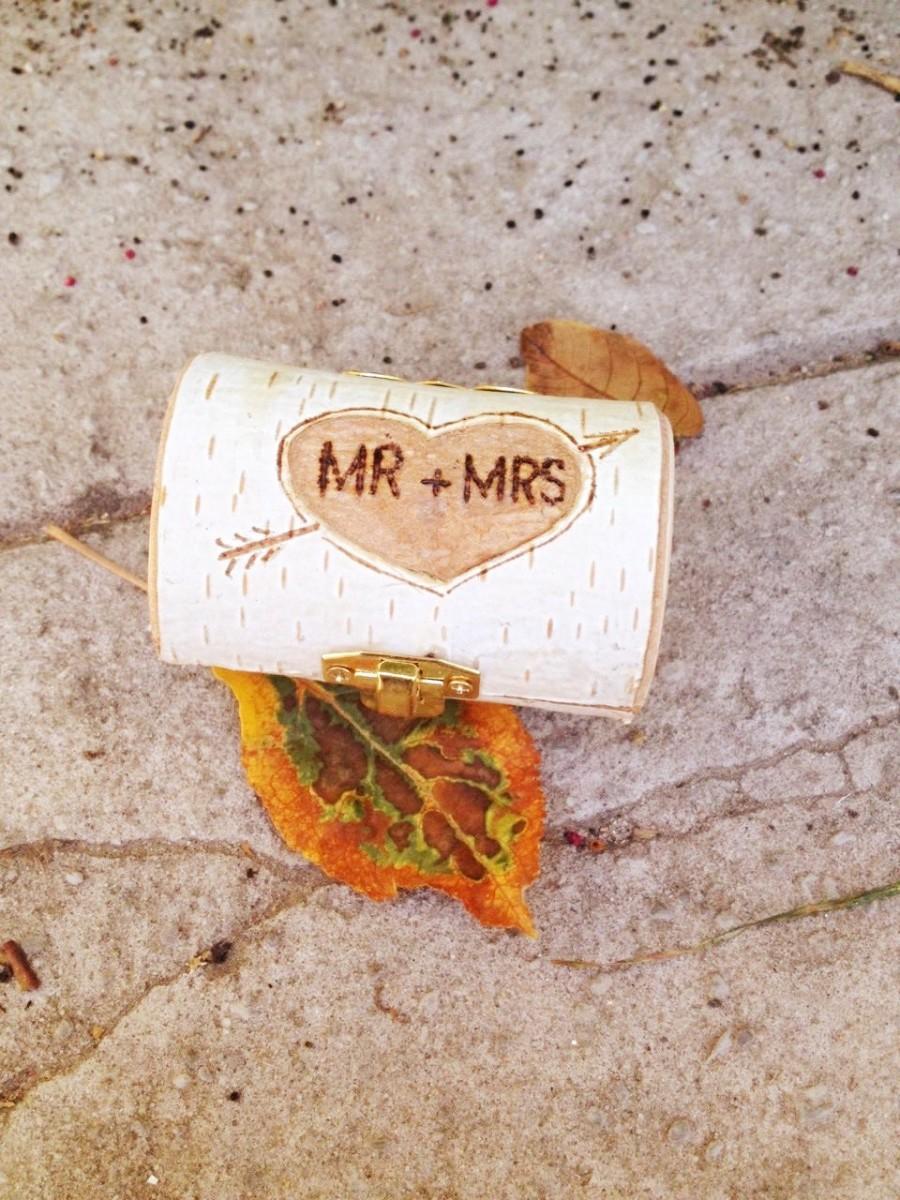 زفاف - MR and MRS Wedding Ring Box Wedding Ring Bearer Pillow With Heart Arrow Weddings Ring Holder