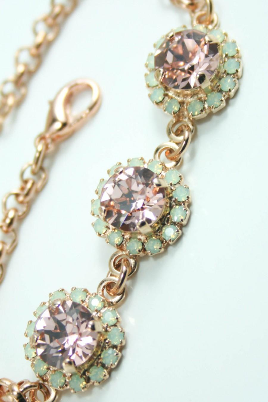 Blush Crystal Bracelet Rose Gold Swarovski