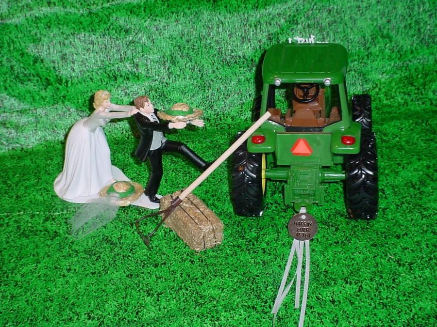 Running To The Altar Couple John Deere Country Farm Tractor Fun ...